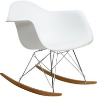 Rocker Lounge Chair White