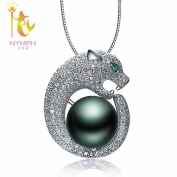 2016 brand pearl jewelry , MAX  natural Tahitian black pearl pendant necklaces Round pearl pendants  best gift for women TH01