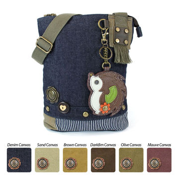 Chala Patch Crossbody Bag + Coin Purse (HedgeHog)-Free Shipping