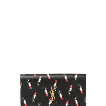 Saint Laurent Monogramme Lipstick-Print Clutch Bag