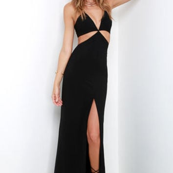 Levitate Black Halter Maxi Dress