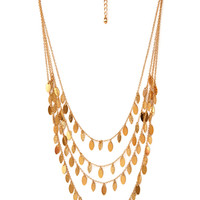 Minimalist Layered Fringe Necklace