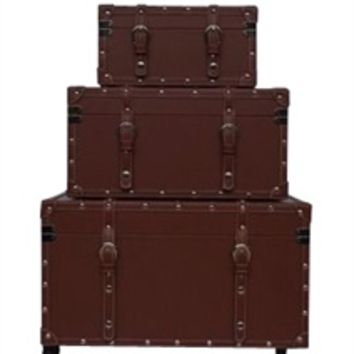 Cheap College Dorm Room Storage Options - The College Girl Dorm Trunk - Brown Footlocker
