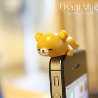 SALE30-70%OFF: Cute Big Rilakkuma iPhone Plug . Dust Plug . Phone Plug . Phone Charm couple, Kawaii, Lovely, Girly, rilakkuma, japanese