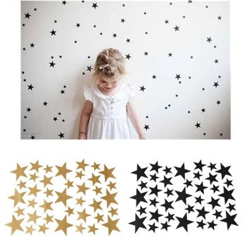 39pcs Stars Pattern Vinyl Wall Art Decals Nursery Room Removable Decoration Wall Stickers for Kids Rooms Home Decor EJ893920