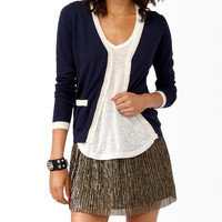 Contrast Trimmed Cardigan