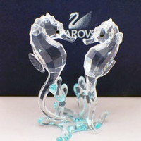 Swarovski Crystal Figurine Sea Horses #0885589 Box New