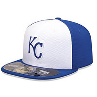 MLB Kansas City Royals Men's Authentic Diamond Era 59FIFTY Fitted Cap, 818, White/Royal