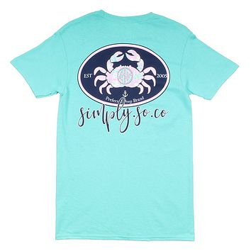 Preppy Crab Tee in Aruba by Simply Southern