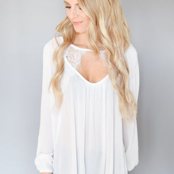Walk the Lace Detail Top