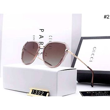 GUCCI 2019 new women's simple driving polarized large frame color film sunglasses #2
