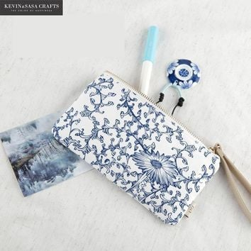Cotton Pencil Case Blue Great School Supplies Bts Stationery Gift  School Cute Pencil Box Pencilcase Pencil Bag School Supply