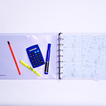 7 Ring 3 on a Page Check Book Binder with WHITE cover By Starbinders White
