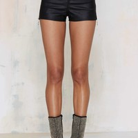 UNIF Sabbath Vegan Leather Shorts