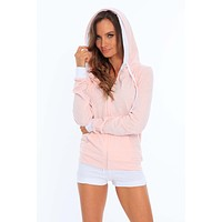 Women's Two Tone Zip Up Hoodie