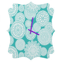 Heather Dutton Delightful Doilies Tiffany Quatrefoil Clock