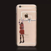 Michael Jordan Chicago Bulls Basketball Stars Hard Plastic Cover Shell Case for iPhone 6/6s