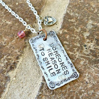 Someones Reason to Smile Necklace by Crafting4Cause on Etsy