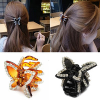 New Women's Butterfly Crystal Rhinestone Claw Hairpin Hair Clip Clamp Accessory  6X8I