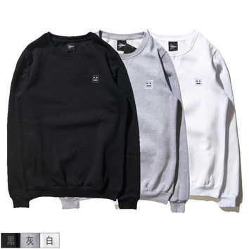 Winter Cotton Round-neck Couple Simple Design Hoodies [10351478791]