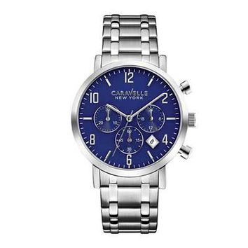 Men's Caravelle New York™ Chronograph Watch (Model: 43B139) - Save on Select Styles - Zales