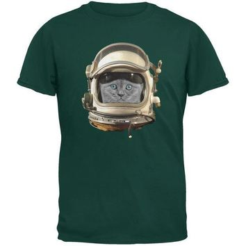 CREYCY8 Astronaut Cat Dark Green Youth T-Shirt