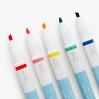 Poketo Five Pack Double Tip Pens