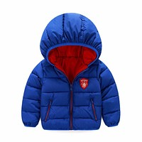 Baby Boys Jacket 2017 Winter Jacket For Girls Bomber Jacket Kids Warm Hooded Infant Boy Coat Children Outerwear Coat Clothes