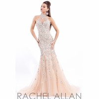 High Neck Collar Beaded Pageant Dress Prima Donna 5721