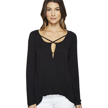 HEATHER Long Sleeve Crisscross Top