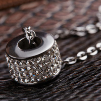 Twinkle Crystal Pendant Silver Chain Necklace Gift-42