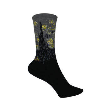 Starry Night Crew Socks in Flannel