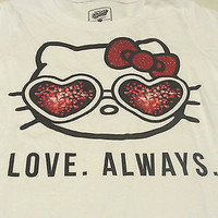 Old Navy Collectabilitees Girls Tee Shirt Sz M 8 White Hello Kitty Love. Always.