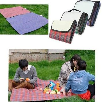 59x79 Outdoor Beach Picnic Folding Camping Mat Waterproof Mat Moistureproof Plaid Blanket""