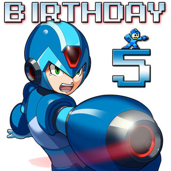 Personalized Video Game Megaman Birthday Shirt T-shirt Great Gifts #2