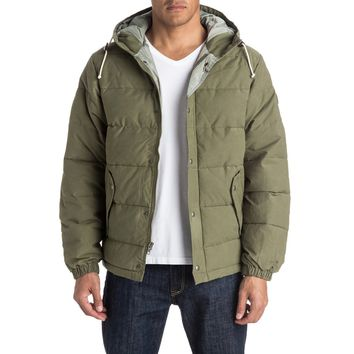 Quiksilver Belmore Down Jacket, Dusty Olive (Size M)