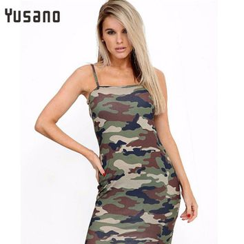 Yusano Women Sexy Nightgown Cotton Spaghetti Strap Camouflage Sexy Sleep Dress Mini Nightwear Sexy Lingerie Robe G-String