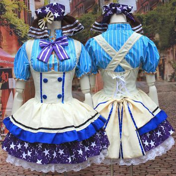 Lovelive! Love Live Nozomi Tojo Candy Maid Uniform Cosplay Costume Lovely Princess Lolita Dress Halloween Costumes