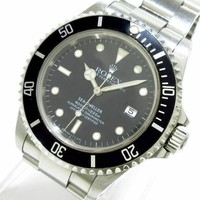 Auth ROLEX Sea-Dweller 16600 Black Men's Wrist Watch