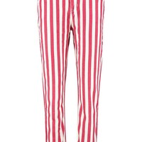 Red Stripe Mom Jean | Boohoo