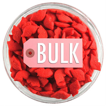 Red Kissing Lip Sprinkles BULK