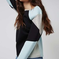 TALL Colourblock Textured Sweatshirt - Tall - Clothing