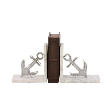 Astonishing Aluminum Marble Bookend Pair