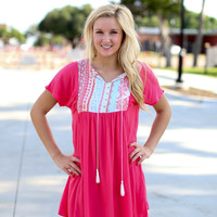 Flirty and Fun Dress - Coral