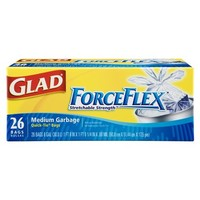 Glad ForceFlex Medium Quick-Tie Garbage Bags 26-ct.
