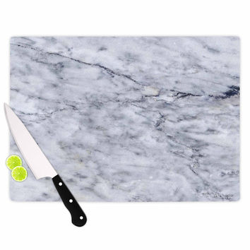 "Chelsea Victoria ""Marble"" Blue Black Cutting Board"