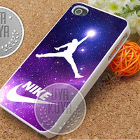 Nike Jordan Galaxy - iPhone 4/4s/5/5S/5C Case - Samsung Galaxy S2/S3/S4 Case - Black or White