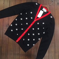 GUCCI Bee V-collar Cardigan Sweater
