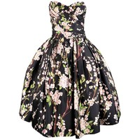 DOLCE & GABBANA Dress Black Cherry Blossom Cocktail Dress - US 8
