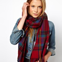 ASOS Check Scarf at asos.com